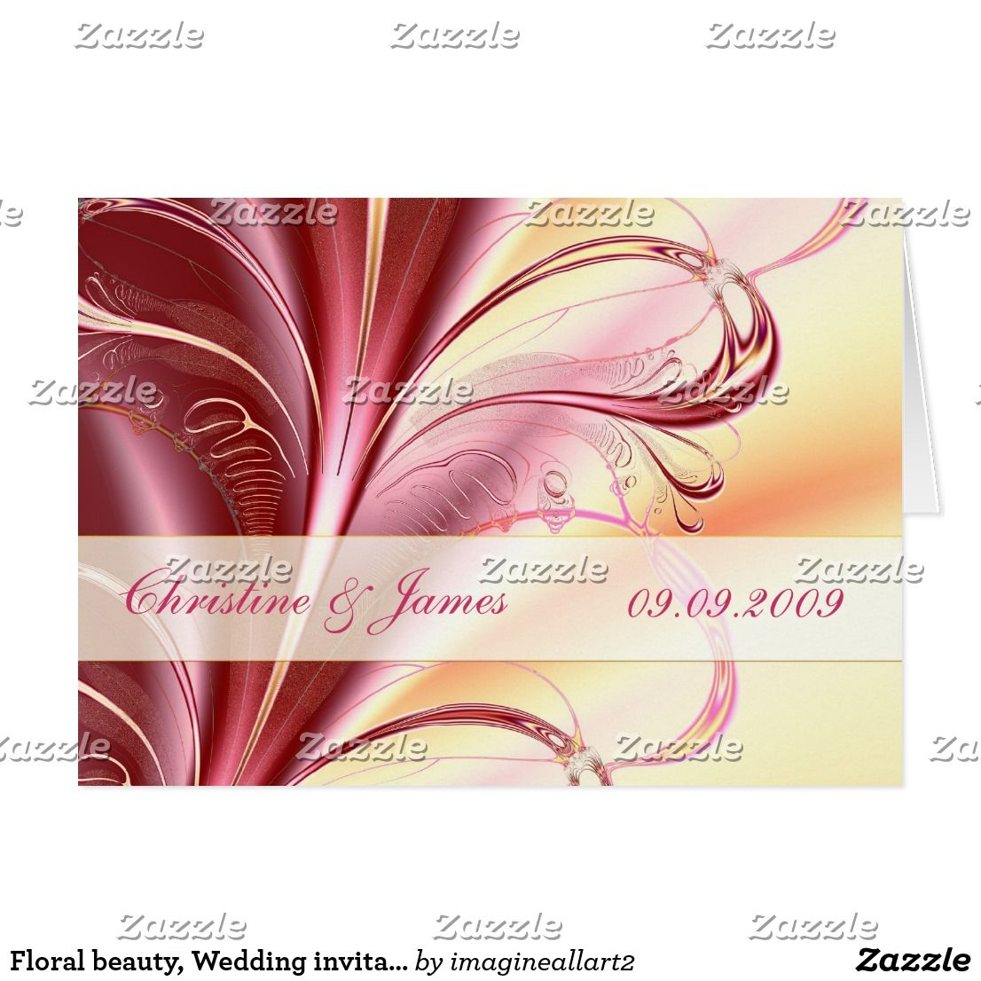 Floral beauty, Wedding invitation card | Wedding ideas | Pinterest ...