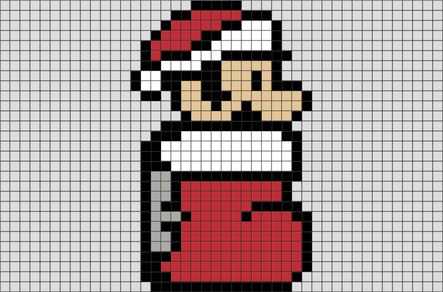 Christmas Mario Pixel Art from BrikBook.com #Christmas #Mario ...