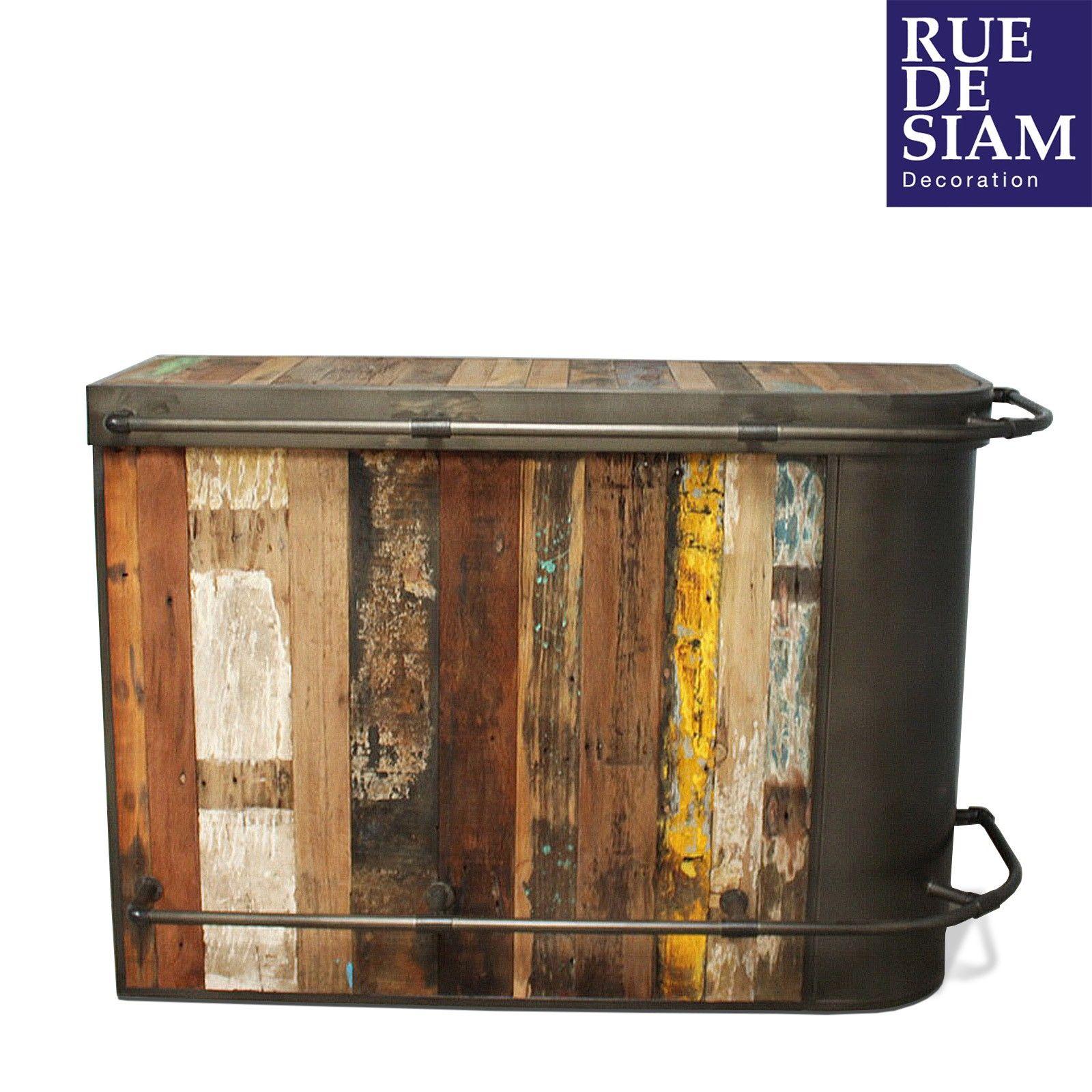 Meuble Mini Bar D Angle meuble de bar industriel, design vintage, bois et fer | bars