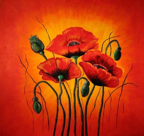 Mohnblumen Blumen Malen Mohn Malerei Und Acrylbilder Blumen