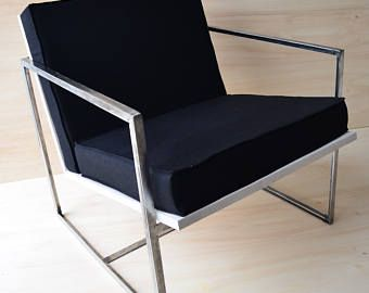 schwarzes leinen sessel - Planner Sessel