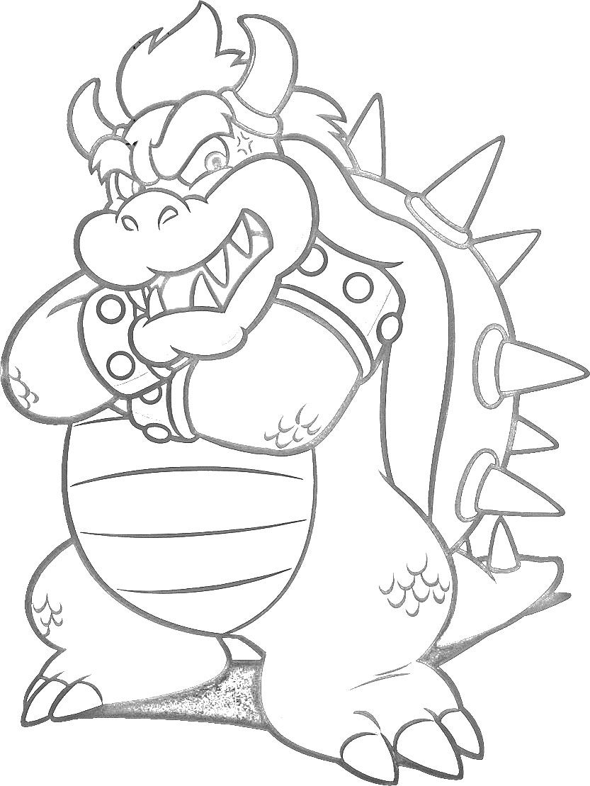 bowser_super_mario_world_lineart_by_disneylouisd5vpti4