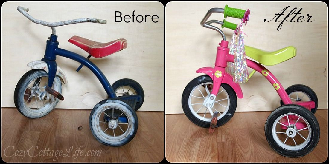 Rustoleum Spray Paint Transformed This Tricycle From Trash To