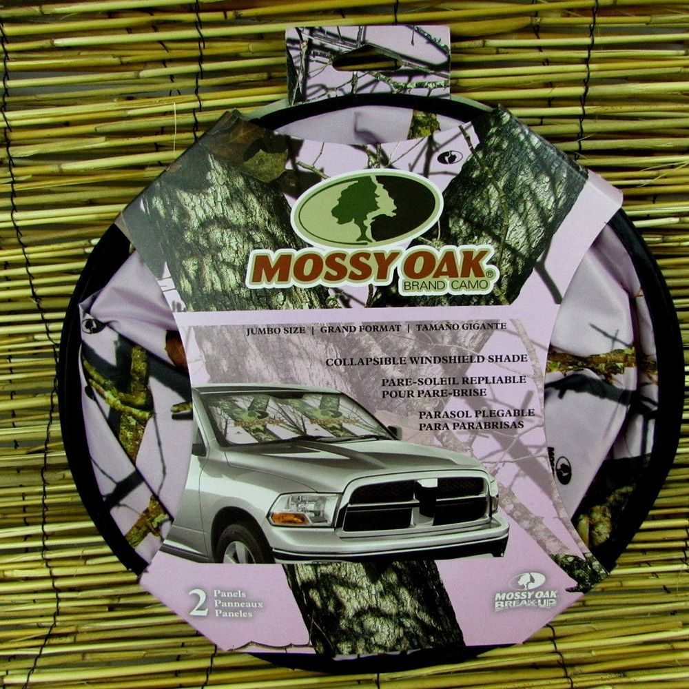 Mossy Oak Pink Collapsible Twist Windshield Sun Shade 2 Jumbo 28