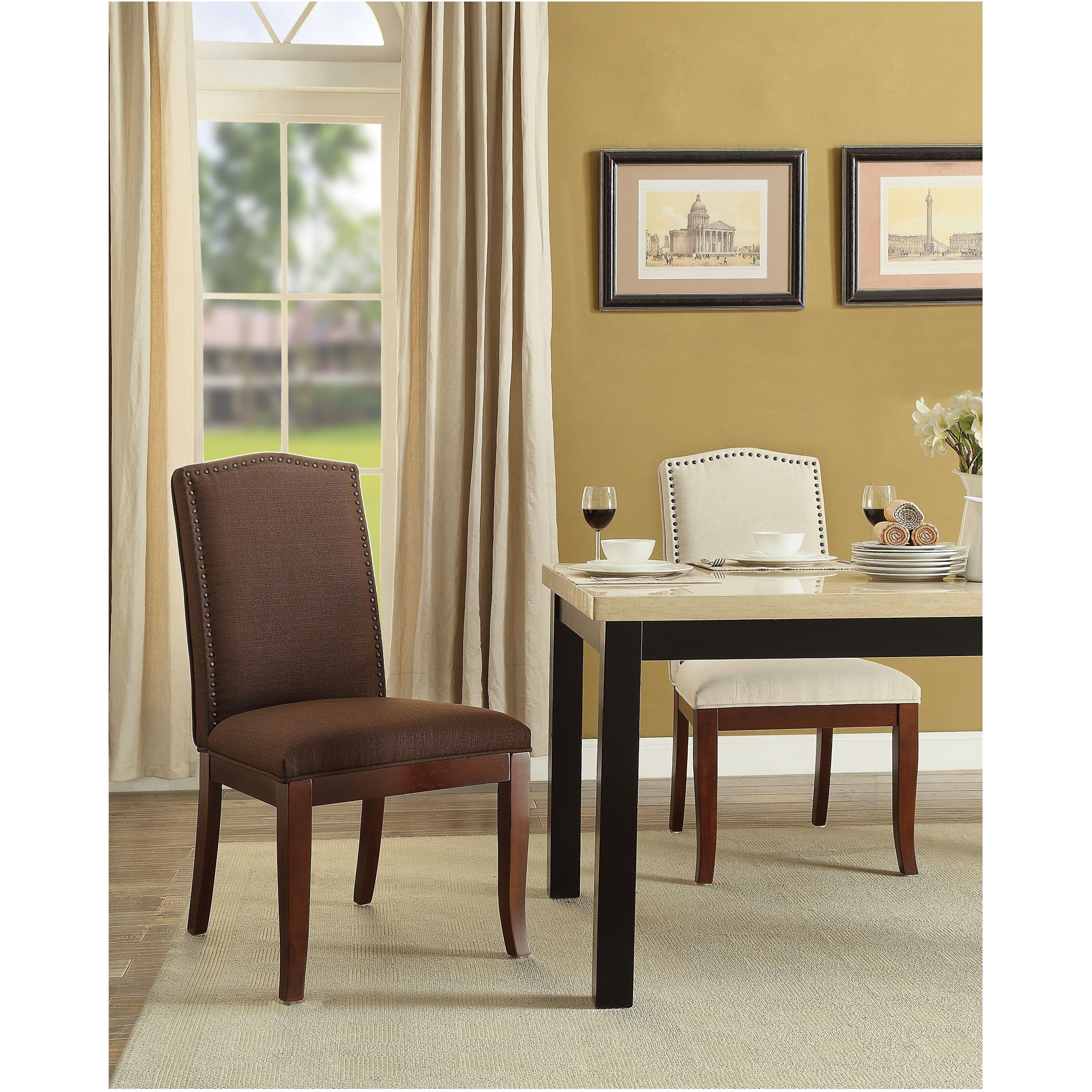 Beigecreamwhitefabricwood Dining Room Chairs Make Mealtimes Fascinating White Wooden Dining Room Chairs 2018