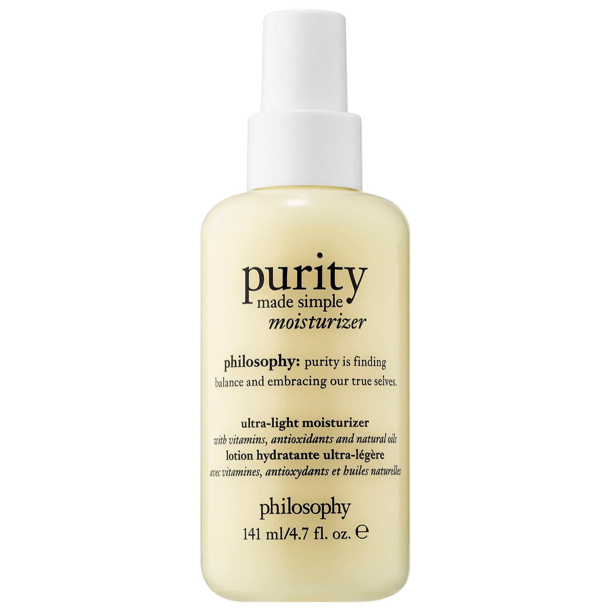 Purity Made Simple Ultra Light Moisturizer Philosophy Sephora Light Moisturizer Purity Made Simple Moisturizer For Sensitive Skin