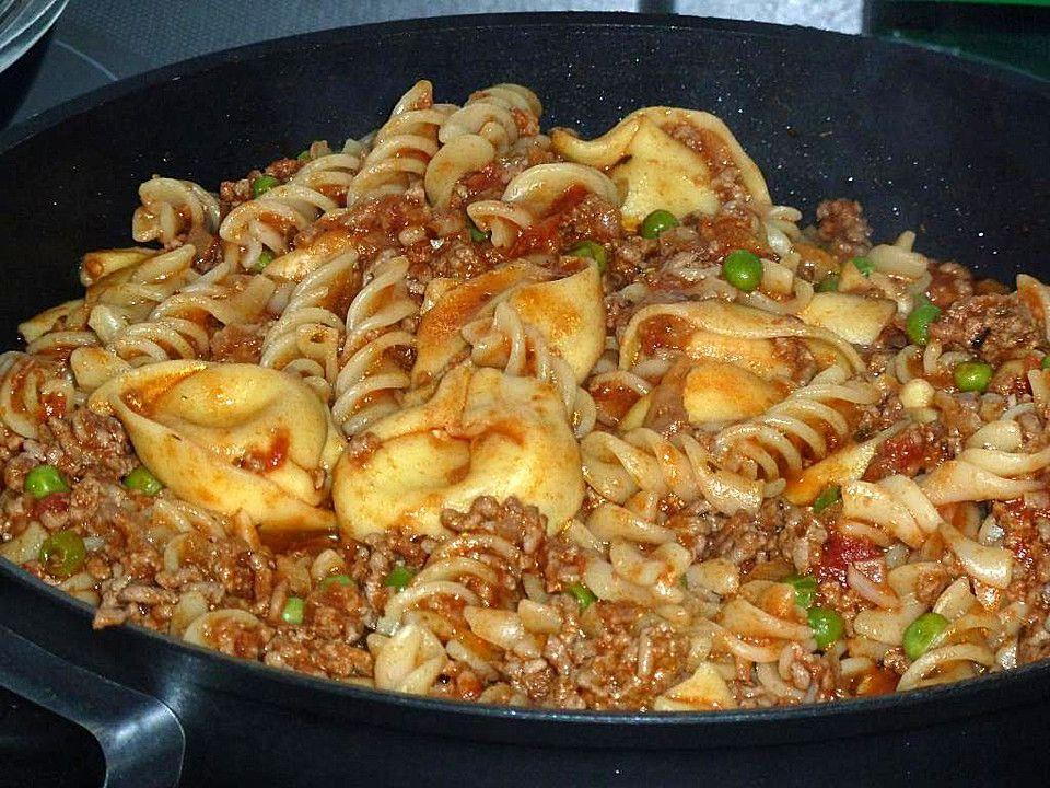 Tortellini - Hackfleisch - Pfanne #tortelliniauflauf