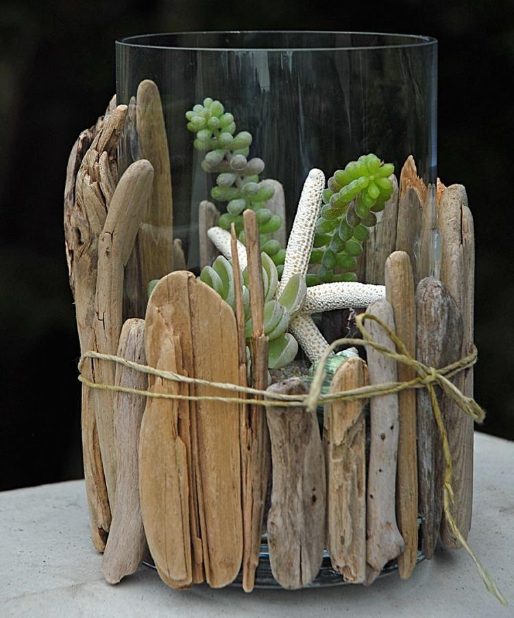 decoration en bois flotte pour un terrarium miniature plus