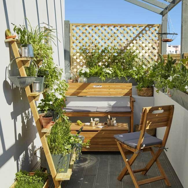 Ławka z oparciem Blooma Denia 128,5 x 57 x 89,7 cm akacja | balkon ...