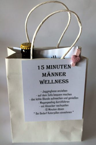 diy 15 minuten m nner wellness gechenke pinterest geschenkideen f r m nner geschenke aus. Black Bedroom Furniture Sets. Home Design Ideas