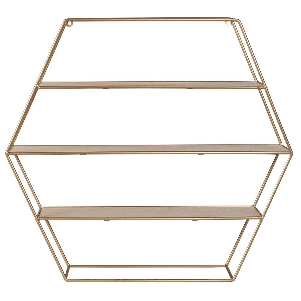 Scaffale A Muro Metallo.Scaffale A Muro Esagonale In Metallo Ramato Sideboard Furniture