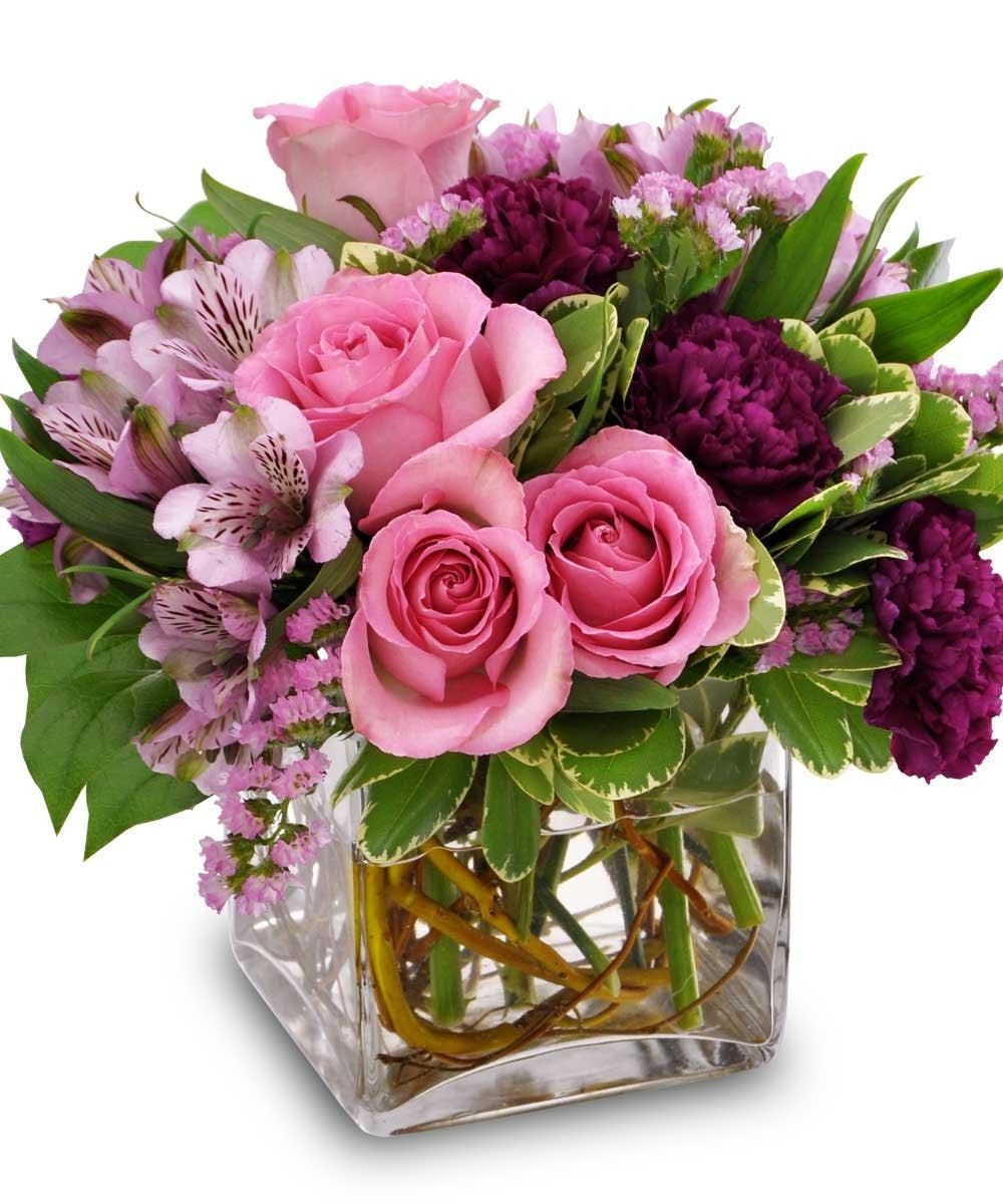 Blooms In Pink Spring Flower Arrangements Centerpieces Spring Flower Arrangements Flower Arrangements Center Pieces