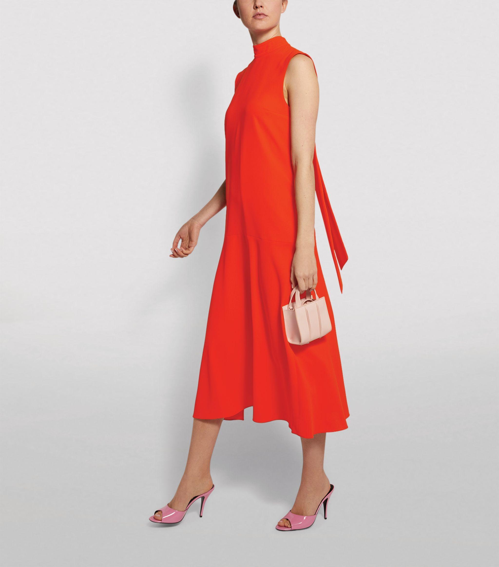 Victoria Beckham Red Sleeveless Midi Dress Harrods Com Midi Dress Sleeveless Midi Dress Dresses [ 2328 x 2048 Pixel ]