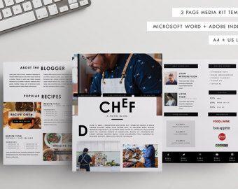 ThreePage Media Kit Template Press Kit Template By Bloggerkitco
