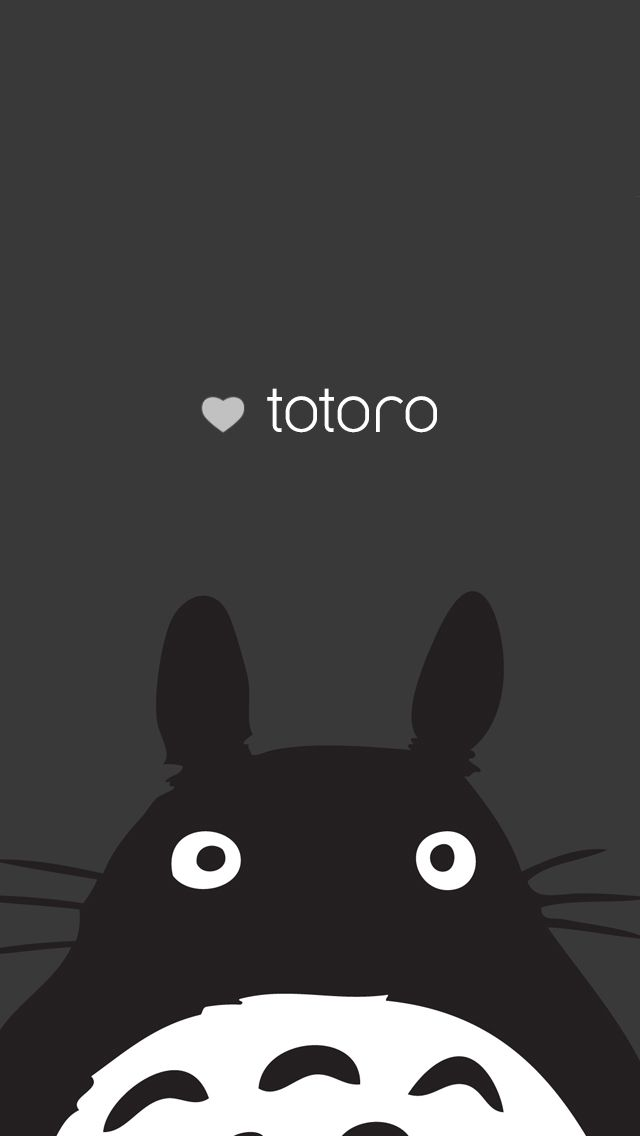 Totoro iphone 5 background characters totor - Kawaii anime iphone wallpaper ...