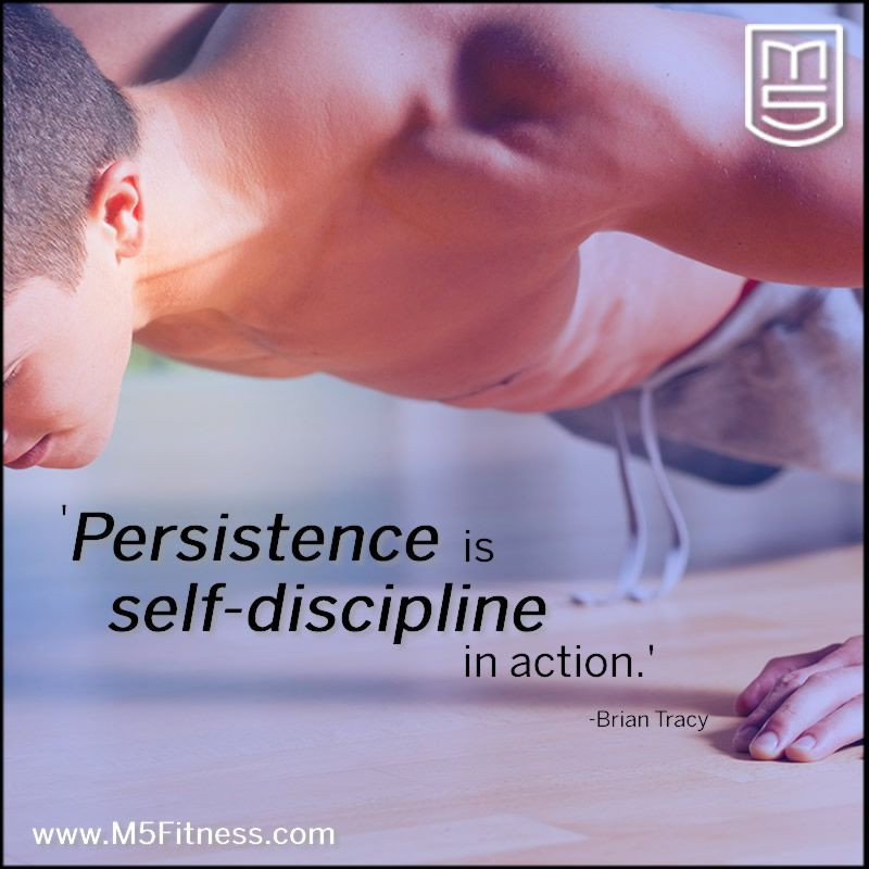 Persistence is self-discipline in action. -Brian Tracy