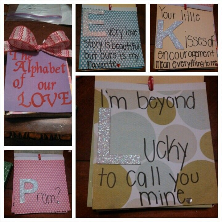 Best Valentines Gifts For Him: Alphabet Of Our Love Book I Made My Boyfriend For