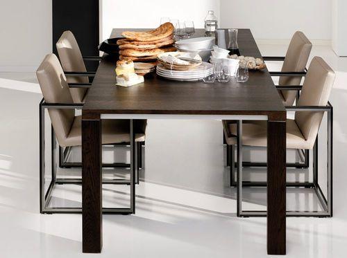 Leolux Eetkamertafel Vivre Largo.Dining Table Contemporary Walnut Oak Vivre Largo By Minimal