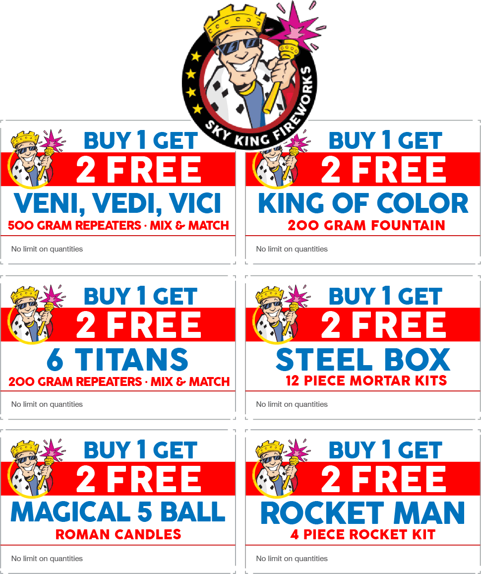 Sky King Fireworks 🆓 Coupons & Shopping Deals! Sky king