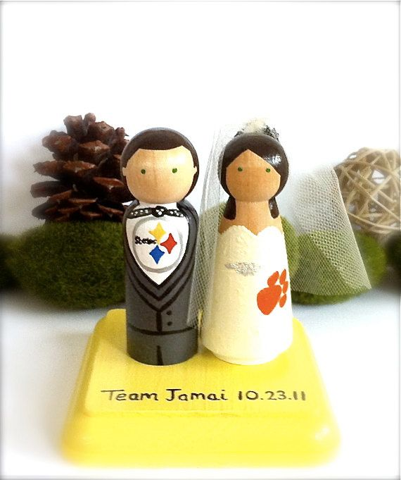 Sport Wedding Cake Toppers Pittsburgh Steelers Any Sports Team ...