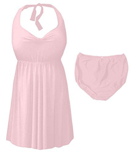 a7ec7a6c2e301 Introducing Sanctuarie Designs Light Pink 2 Piece Halter Style Plus Size  Supersize Swimdress 0x. Great product and follow us for more updates!