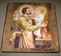 St. Joseph ~ Picture of the Carpenter on Wood ~ Craft | Catholic Inspired ~ Arts, Crafts, and Activities!