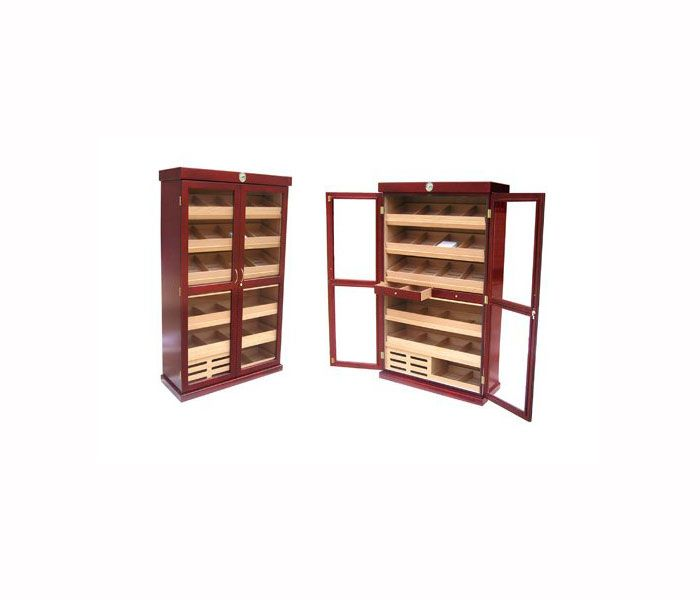 Double Door Cigar Display Humidor Cabinet | VinBro Cigar Cabinets ...