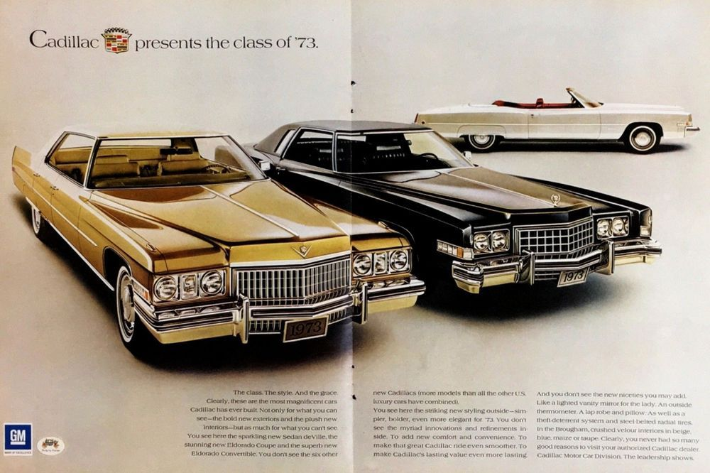 Parts & Accessories New NOS 73 Cadillac Sales Brochure Eldorado