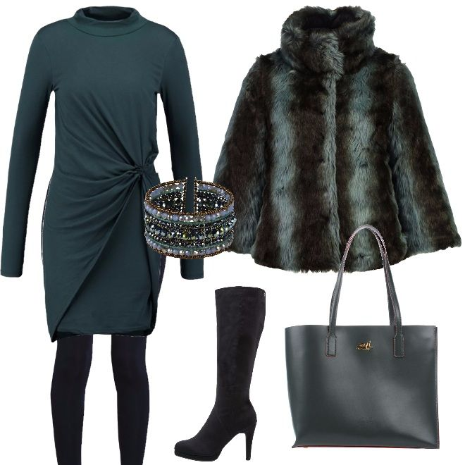 Blu Outfit Verde Glam Giacca Invernale Toni Double Guess Face Nei E a7t6Wn7gqw