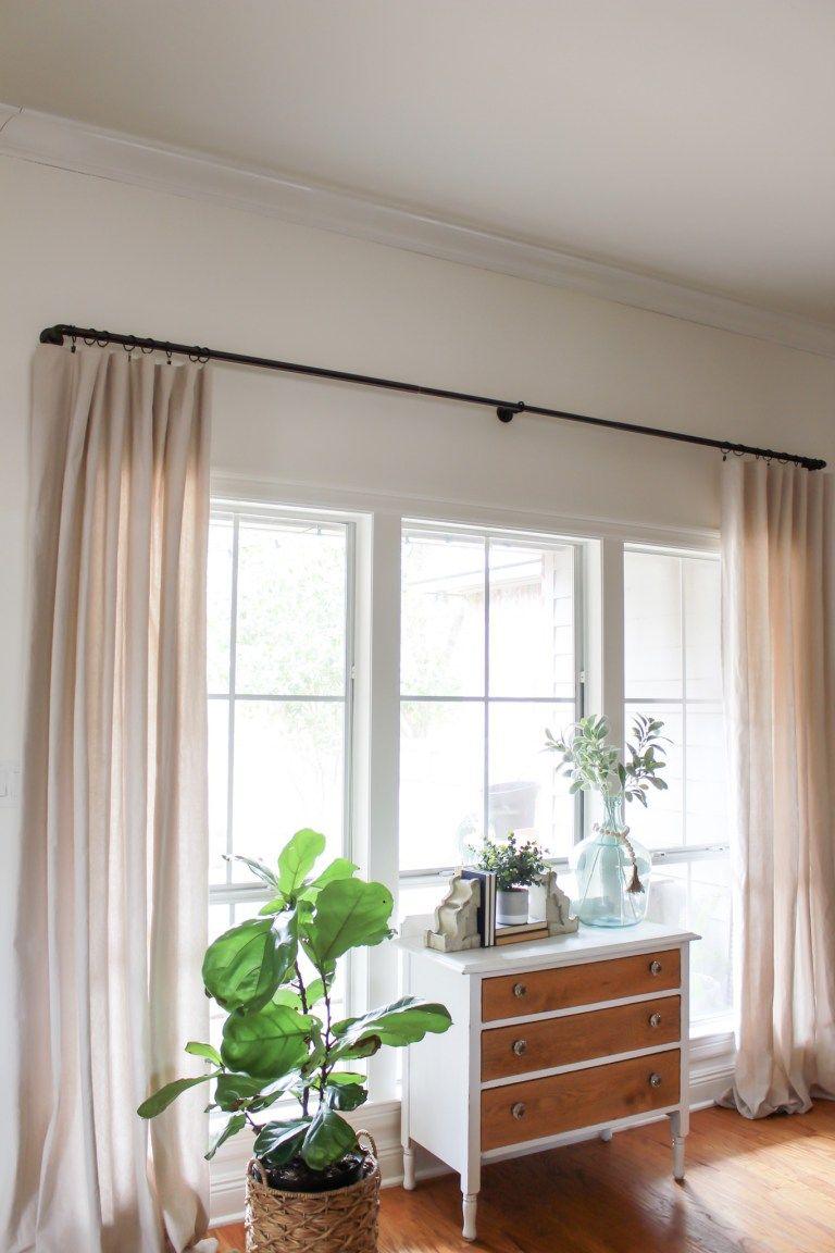 No curtain window ideas  diy no sew drop cloth curtains  drop cloth curtains window sizes