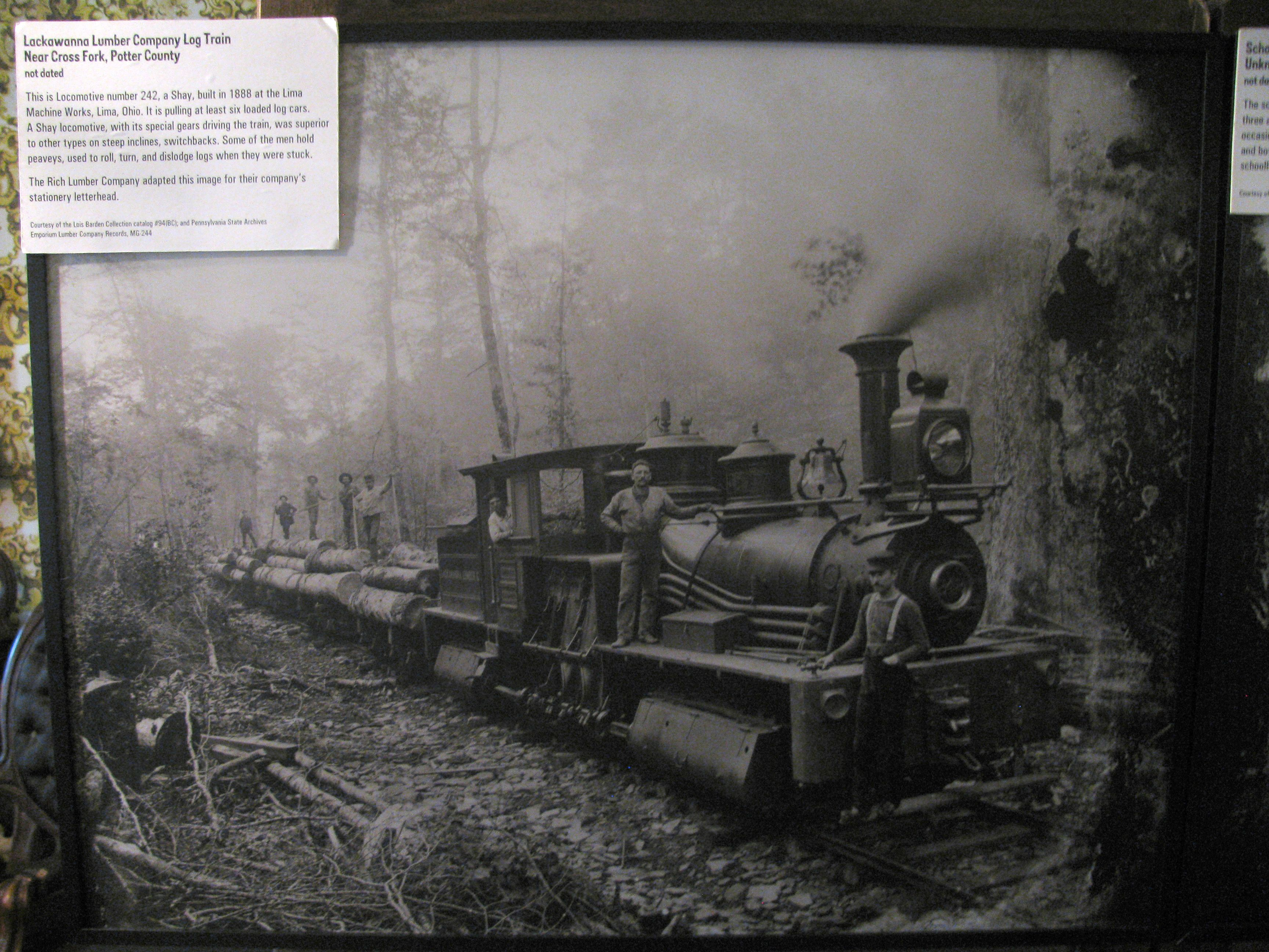 Mississippi tallahatchie county tippo - Lackawanna Lumber County Log Train Near Cross Fork Potter County