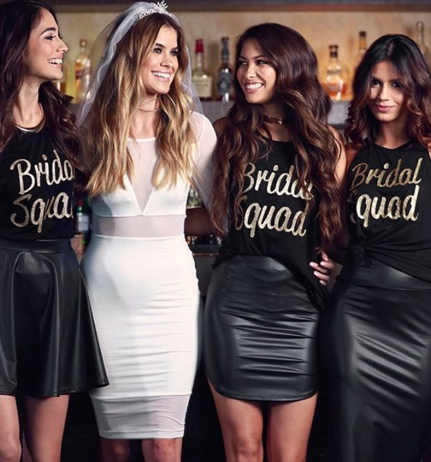 bride squad photo cute picture to take with the bride at a bridal shower or bachelorette party ledyz fashions wwwledyzfashionscom
