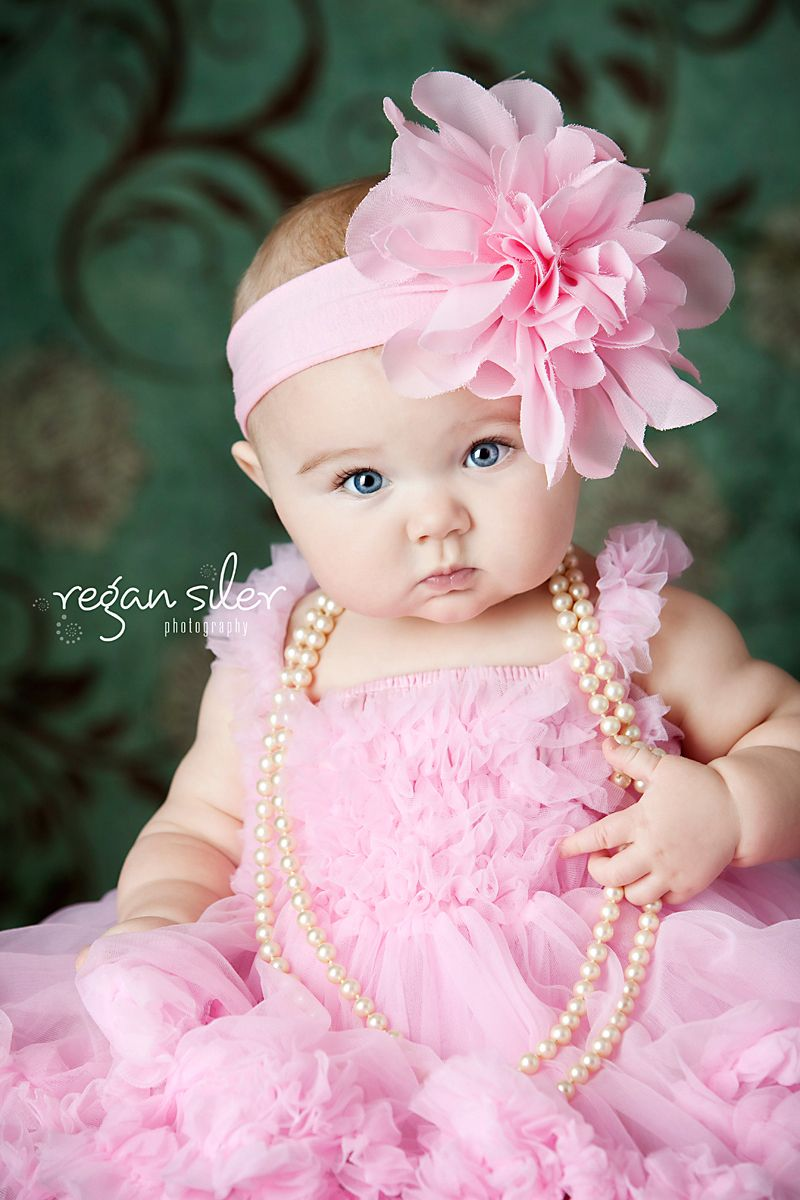 Big Bows Pearls Rsp Children S Portraits Baby Photoshoot Girl Baby Girl Photography Baby Girl Photos