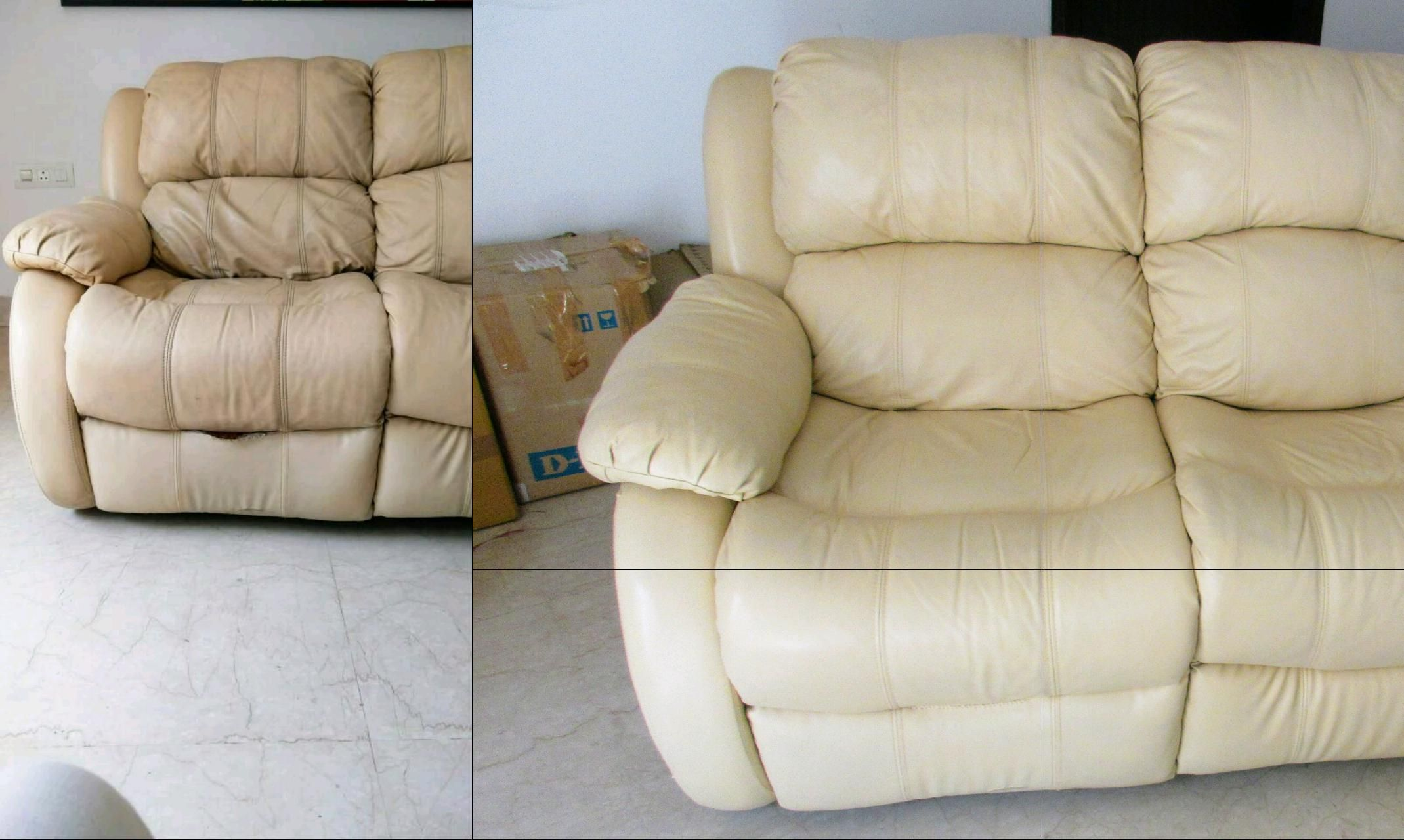 Leather Sofa Cleaning Services Before And After The Laundry