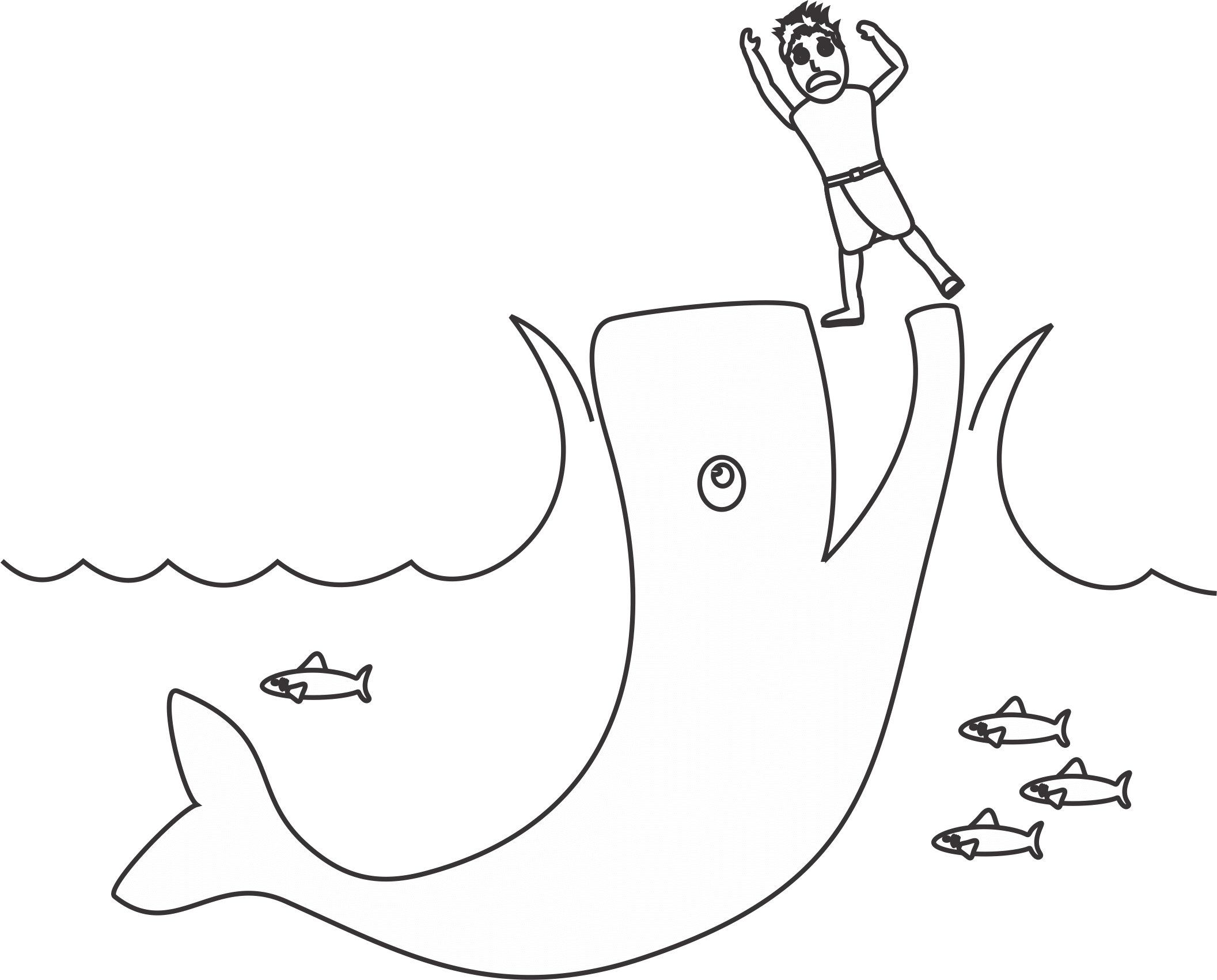 jonah and the whale coloring page for the sign of jonah lesson ... - Jonah Whale Coloring Page