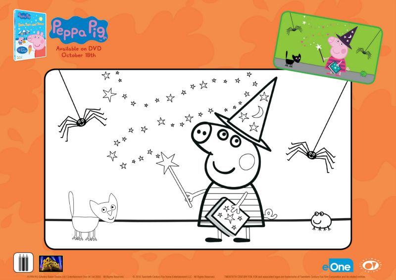 Free Peppa Pig Halloween Coloring Page Fox Home