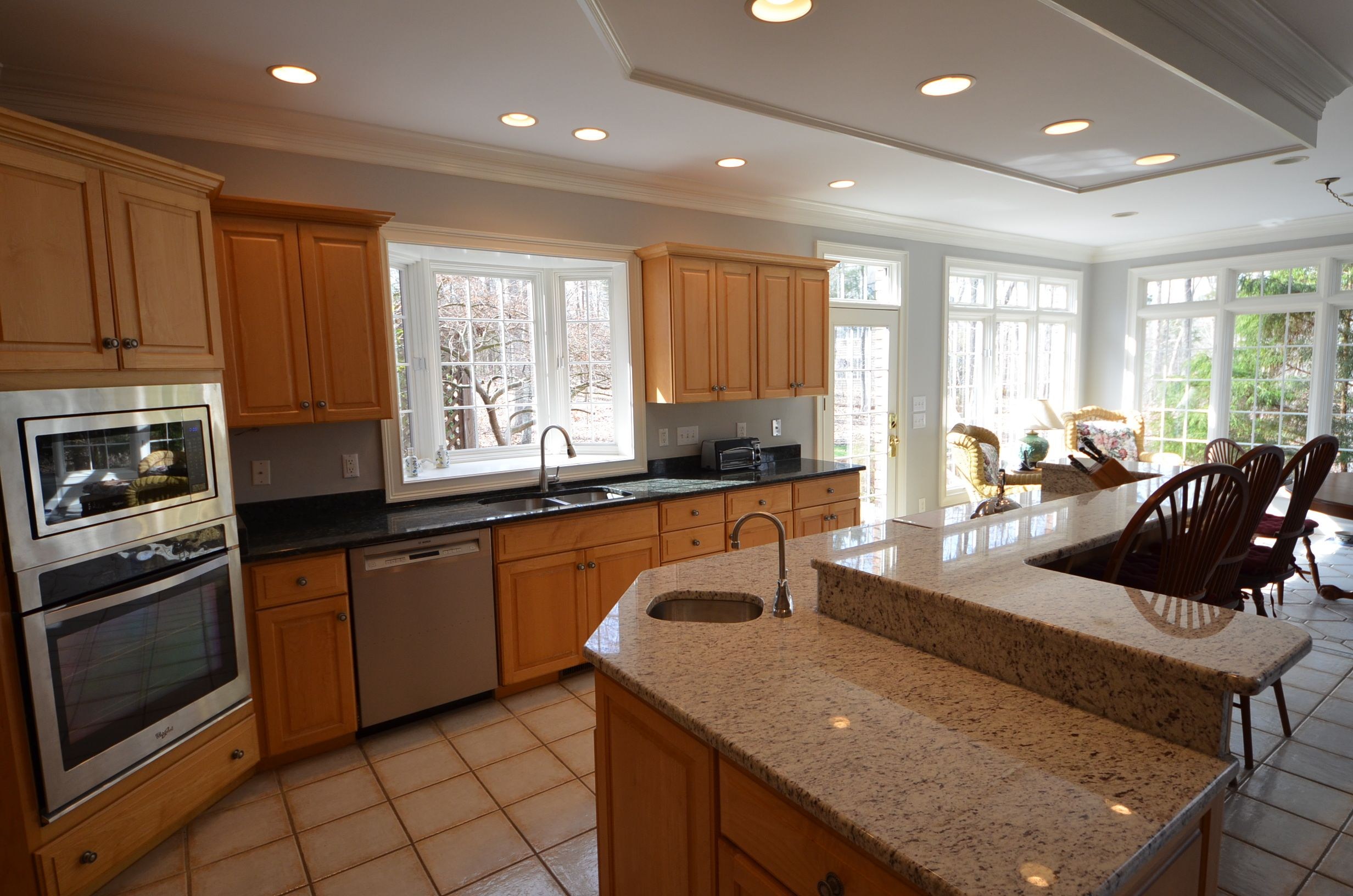 Kitchen With Attached Sun Room With Images Updated Kitchen