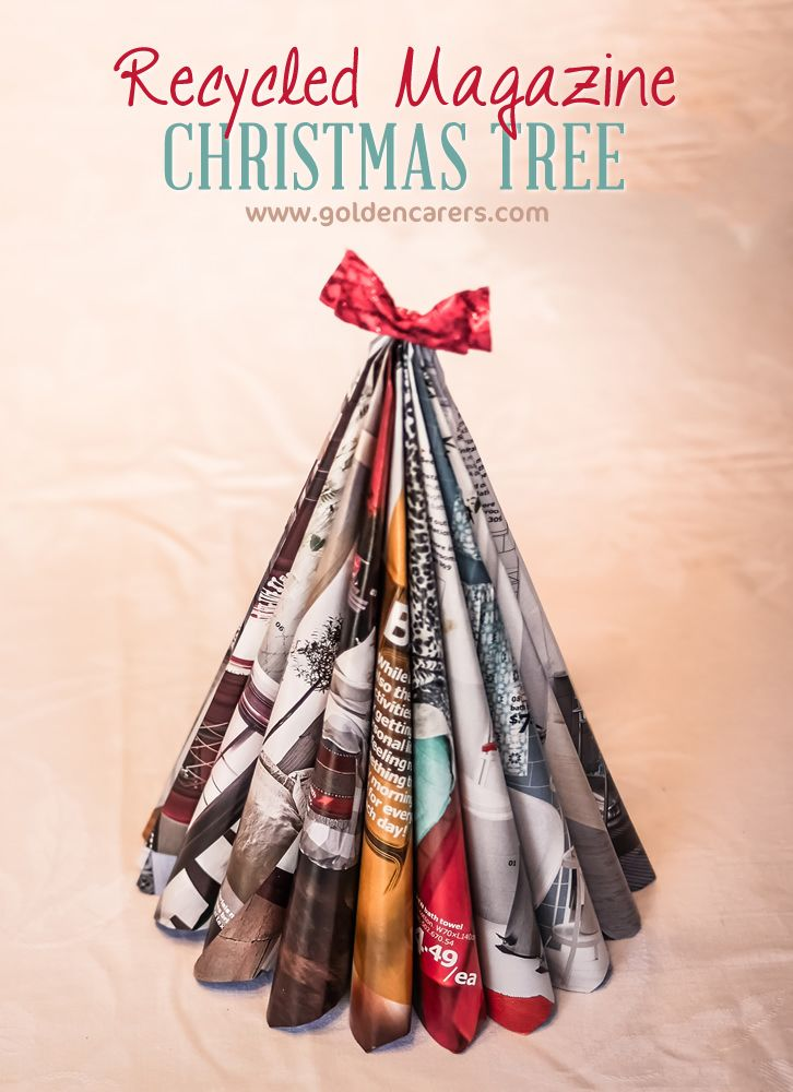 Recycled Magazine Christmas Trees Recycled Christmas Decorations Recycled Christmas Tree Recycled Magazine