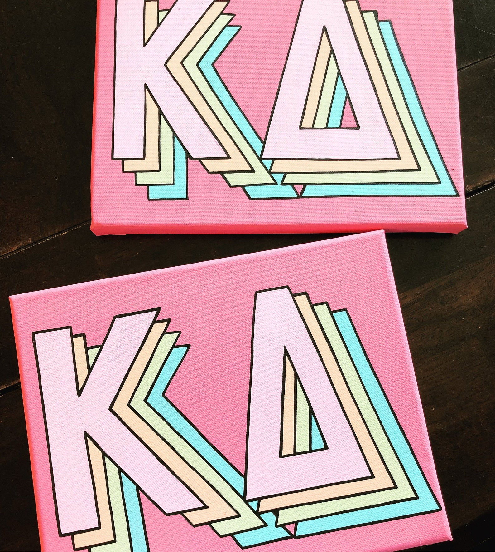 SORORITY CANVAS - retro Greek letters #biglittlecanvas