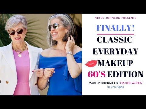 CLASSIC EVERYDAY MAKEUP with Style At A Certain Age 60'S