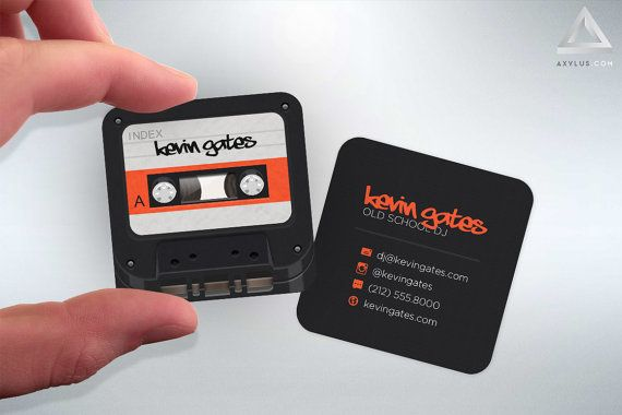 Cassette Tape Mini Cards - DJ Business Cards - Music/Mixtape - Design and Printing - 250, 500, 1000, 2500 | FREE Shipping |