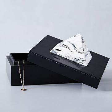 Black And White Decorative Boxes Black Pyramid Decorative Box Black  White  Box And Bedrooms