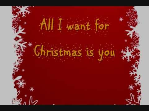 Mariah Carey All I Want For Christmas Is You Lyrics On Screen Hq Christmas Time Pretty Soon 33333 This Christmas Music Christmas Playlist Christmas Song