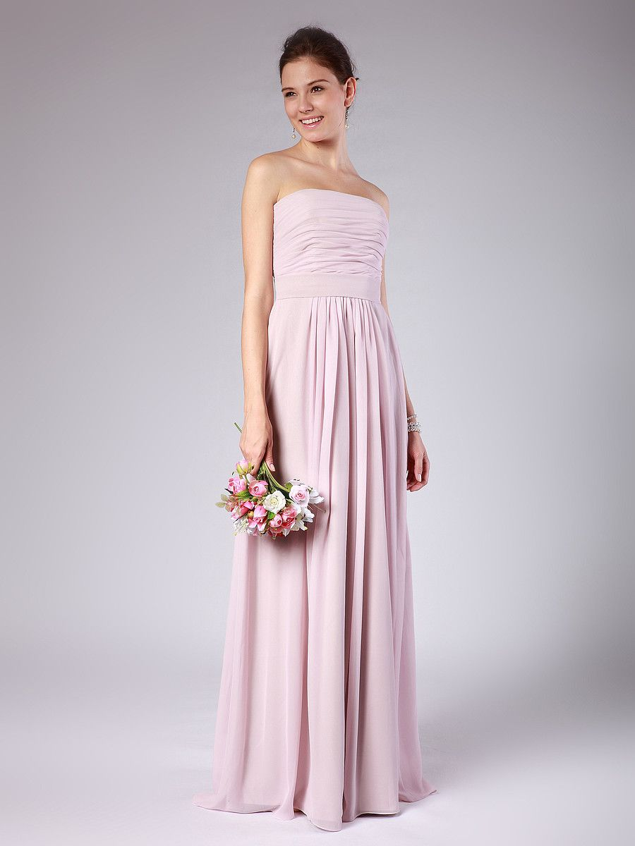Powder pink bridesmaid dress  Strapless Column Bridesmaid Dress  Up to  off plus FREE Custom