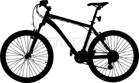 Mountain Bike Silhouette Isolated On White Background Vector Image Vector Colourbox Bike Silhouette White Background Vector Images