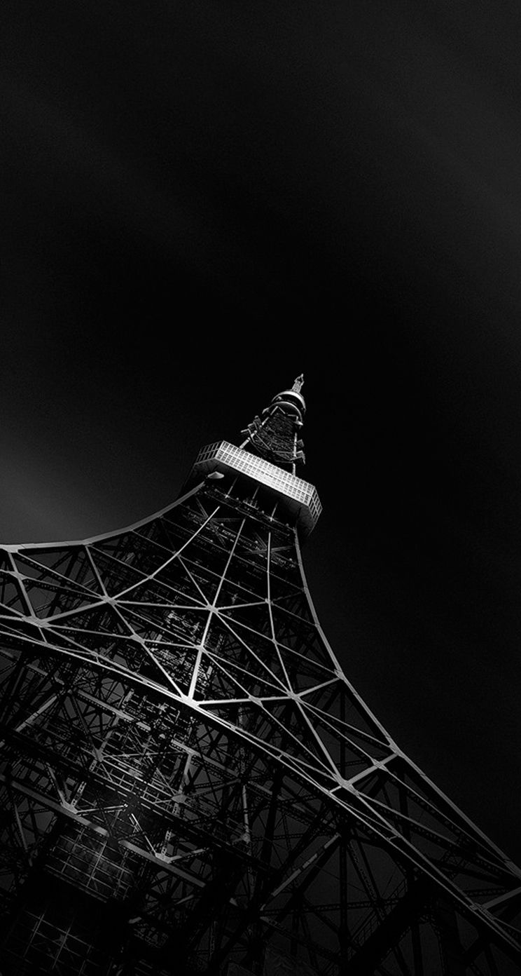 Fading Black Eiffel Tower IPhone Wallpaper