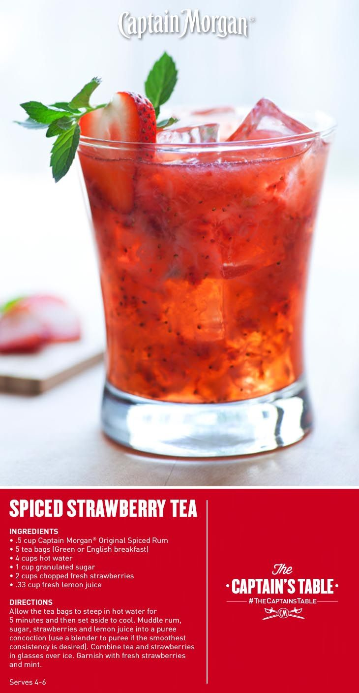 Get A Little Fresh With Your Summer Tea Captainmorgan