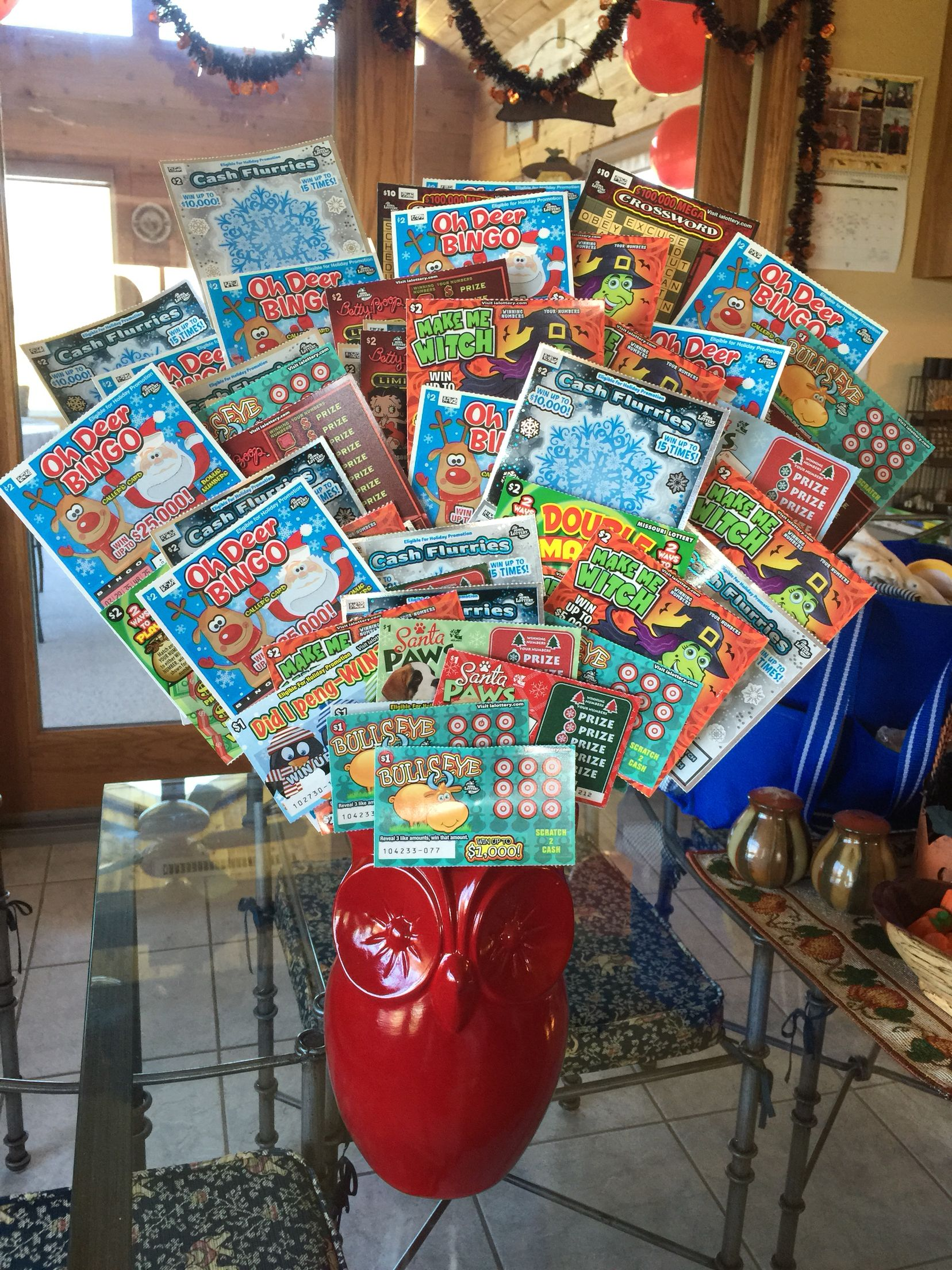 90Th Birthday Lotto Scratch Off Bouquet There Are 90 Tickets