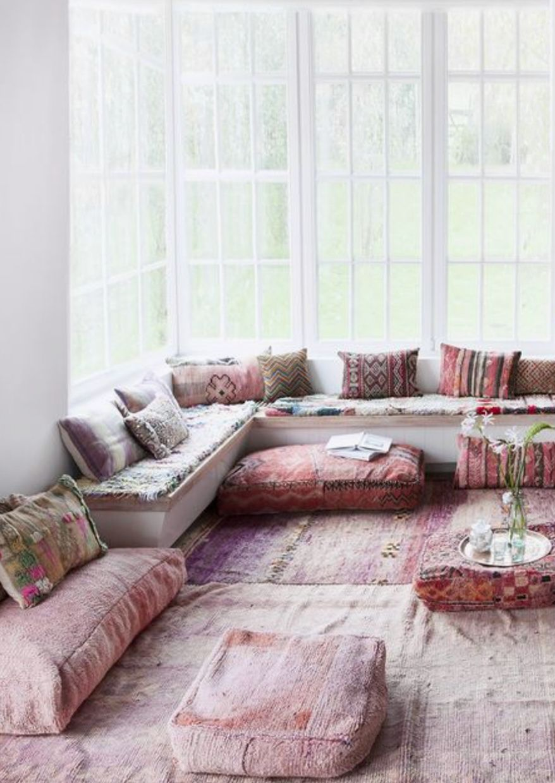 Om At Home Sfgirlbybay In 2020 Floor Seating Living Room Floor Seating Indian Living Rooms