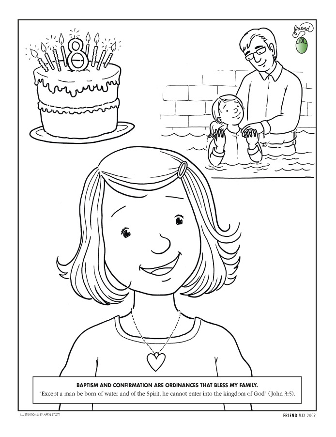 Appealing Baptism Coloring Pages Mormon Share Confirmation